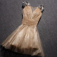 Elegant sequins organza fashion dress from Girlsfriend