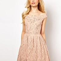 Lydia Bright Prom Dress in Lace at asos.com