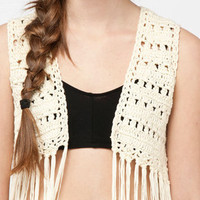 Coachella Fringe Vest :: tobi