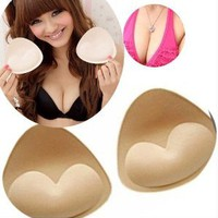 Amazon.com: LuckyStore 1 Pair Sexy Lady Women Sponge Removable Bikinis Swimsuit Bra Push Up Pushup Pads: Beauty
