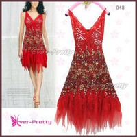 Sexy Red Sequin Lace Cocktail Party Dresses | Ever-Pretty
