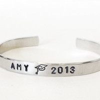 graduation jewelry bracelet - personalized bracelet class of 2013