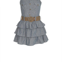 Denim Ruffle Dress