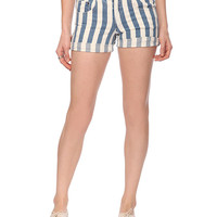 Striped Denim Shorts | FOREVER21 - 2008586146