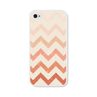 Cream and Peach Chevron iPhone 5 Case  Pink iPhone 5 by fieldtrip