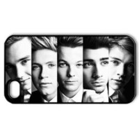 CTSLR Music & Singer Series Protective Hard Case Cover for iPhone 4 & 4S - 1 Pack - One Direction - The Headshot of One Direction