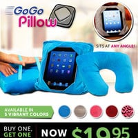 GoGo Pillow™ - Plush multifunction pillow that holds your tablet anytime, anywhere!