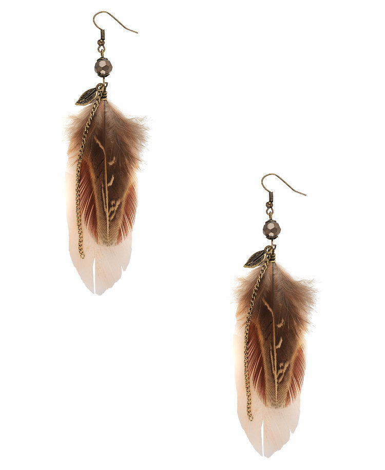 Feathers &amp; Chain Earrings | FOREVER21 - 1000034792