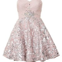 New Look Mobile | Ruby Prom Cream Lace Foil Prom Dress