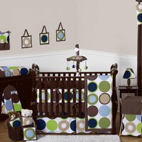 Designer Dot 9 Piece Baby Crib Bedding Set by Sweet Jojo Designs Image - jjd1053bed9 - Type 1