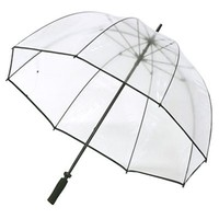 Amazon.com: Clear Golf Bubble Umbrella Color: Black Trim: Clothing