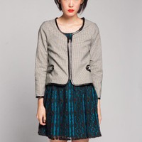 Lucca Couture Elbow Patch Jacket