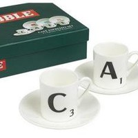 Scrabble CAFE Espresso Cups and Saucers (4) - Kitchen & Dining - £22.99 - The Contemporary Home Online Shop
