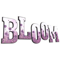 Spring Decor - Bloom Letters with Purple Flowers