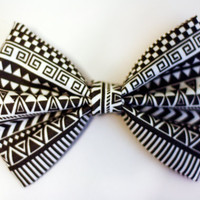 Aztec Print Hair Bow by BiancaParisTaylor on Etsy