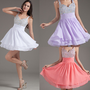 Lady&#x27;s Mini Short Cocktail Evening Dress Party Formal Bridesmaid Prom Ball Gown 