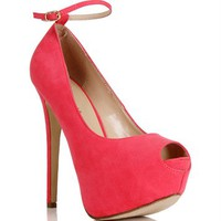 Pink Lemonade Open Toe Pump