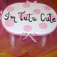 I'm Tutu Cute Stool Pink Bubble/Dots Room by TutuCuteandMoore