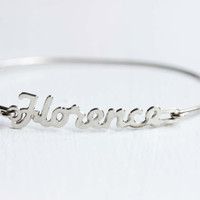 Vintage Name Bracelet  Florence by diamentdesigns on Etsy