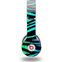 Rainbow Zebra Decal Style Skin (fits Beats Solo HD Headphones - HEADPHONES NOT INCLUDED): Electronics