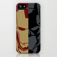 Superhero Consultants - Iron Man and Batman iPhone Case by Franchie