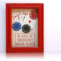 Poker Survival Kit  In Case of Emergency  Funny by ClosetCat