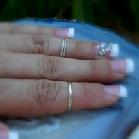 Above The Knuckle Rings Sterling Silver by Holylandstreasures