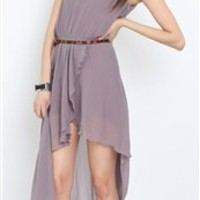 Love Rose Asymmetrical Maxi Dress- Love Hi Low Dresses- Love Dresses- $84.99
