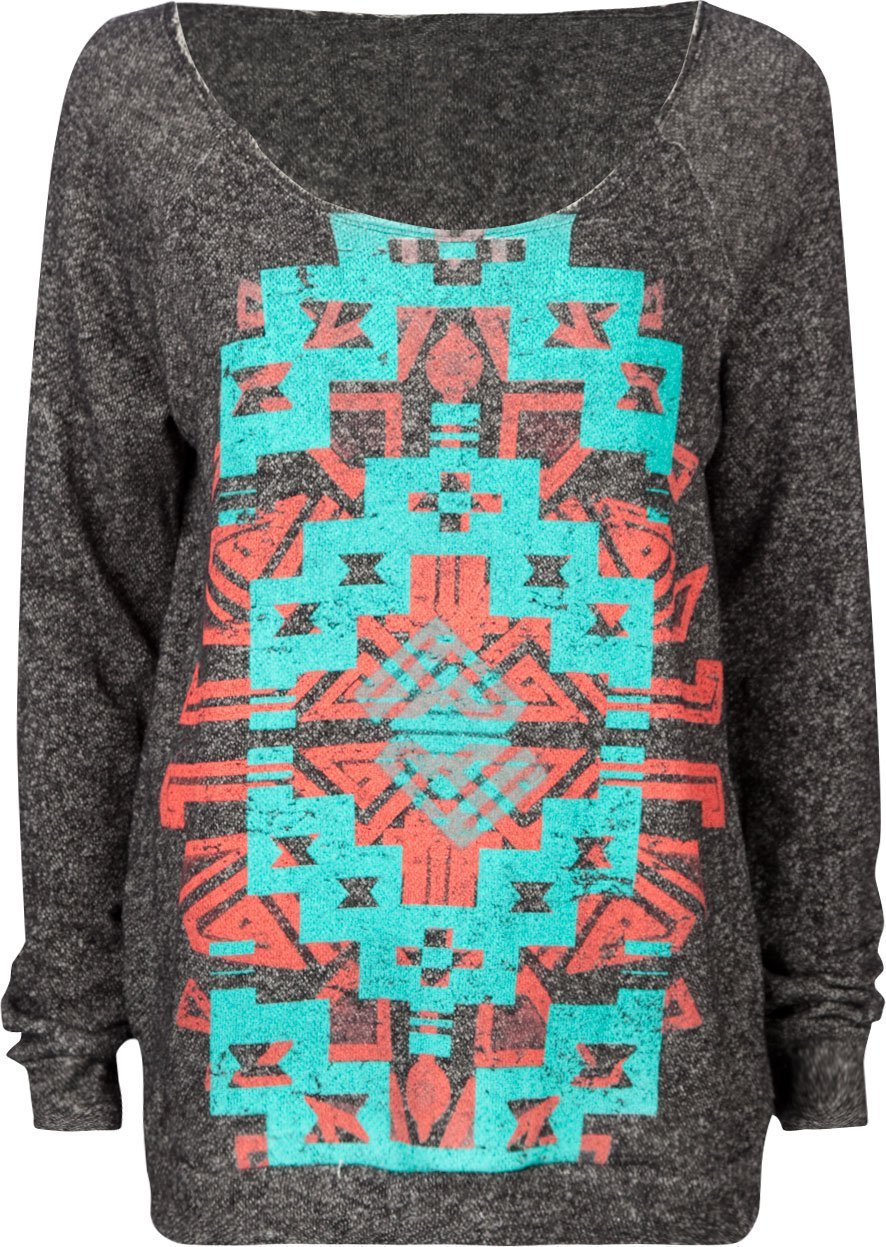 FULL TILT Navajo Screen Womens Sweatshirt