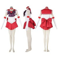 Amazon.com: Dream2Reality Japanese Anime Sailor Moon Cosplay Costume -Sailor Mars Rei Hino 1st Ver Fighting Medium: Clothing