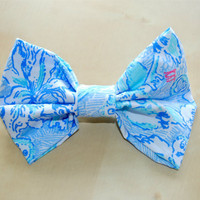 Kappa Kappa Gamma Sorority Lilly Pulitzer Print Hair Bow