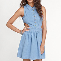 Kirra Denim Cutout House Dress at PacSun.com