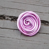 Wire Wrapped Ring Big Pink Friendship Ring