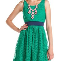 Medallion Lace Open-Back Dress: Charlotte Russe