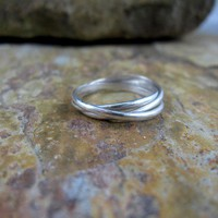 Three Band Rolling Ring by DreamingTreeCreation on Etsy