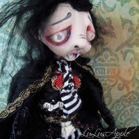 Vampire Art Doll creepy Gothic Boy doll OOAK Santino by LuLusApple