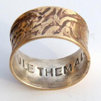 One Ring to rule them all stamped inside Band Ring by ExCognito