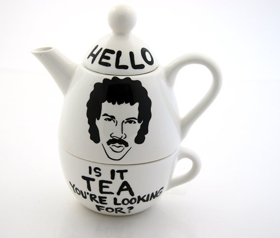 Hello Lionel Richie Ritchie Teapot Tea For One