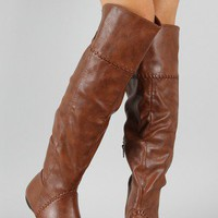 Bamboo Zoria-55 Round Toe Thigh High Boot
