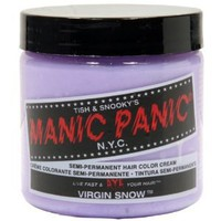 Amazon.com: MANIC PANIC Semi-Permanent Hair Color Cream Virgin Snow (White Toner) 4oz: Beauty