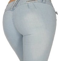 Amazon.com: Mitzi Michel Style MZ6-SSP-C506 - Colombian Style Butt lifting (Levanta Cola) Push-Up Skinny Leg stretch Jeans with rhinestones: Clothing