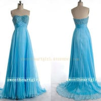 Gorgeous Sweetheart Chiffon Beading Floor-Length Prom Dress/Graduation Dresses