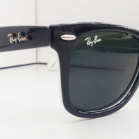 Ray Ban RB2140 Wayfarer Sunglasses Black &amp; white Special Edition Rayban