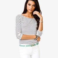 Breton Striped Top | FOREVER 21 - 2021840174