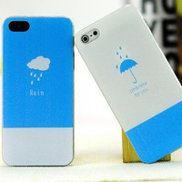 Fashion fresh  couple umbrella and rain case for  iphone5  from looback