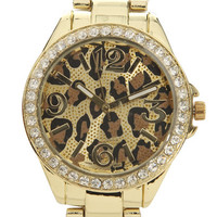Leopard Metal Watch | Shop Jewelry at Wet Seal