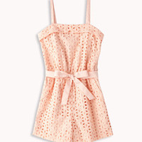 Eyelet Romper w/ Belt