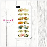 iPhone 5 case Floral Mustache