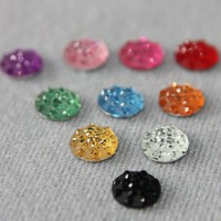 1 piece BLACK Rhinestone iPhone Home Button Sticker in clear plastic bag