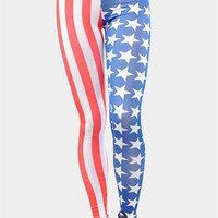 Stars and Stripes Leggings - Blue